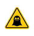 attention ghost dangers of yellow road sign spook vector image