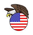 Bald Eagle In Star Stripes Circle Badge vector image