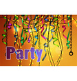 concept of party celebration vector image