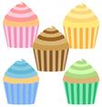 Cupcake setsweet vector image