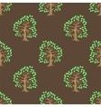 Green Tree Seamless Pattern vector image