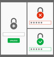 password web interface design vector image