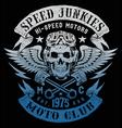 Speed Junkies Motorcycle Vintage Design vector image
