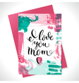 Happy mothers day lettering calligraphy card Hand vector image