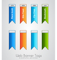 Web banner tag to use for social buttons vector image vector image