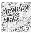 how to make your own jewelry wholesale Word Cloud vector image