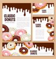 templates set for donut desserts vector image