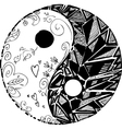 Black and white TAO symbol vector image vector image