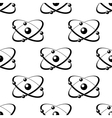 Seamless pattern with atoms around a nucleus vector image vector image