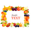 sweet fruits background vector image vector image