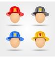 firefighter helmets vector image