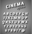 Cinema style characters set vector image