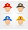 firefighter helmets vector image