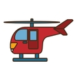 helicopter transport isolated icon vector image