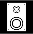 Loud speaker it is the white color icon vector image