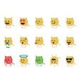 Set of cat emoticon vector image