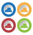 set of four icons - partly cloudy vector image