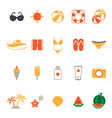 Summer Icons Set with White Background vector image