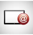 tablet technology icon mail vector image