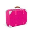 pink trawel suitcase vector image vector image