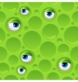 Abstract seamless pattern with bubbles and eyes vector image