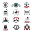 fashion nautical logo sailing themed label or icon vector image