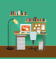 flat interior room template vector image