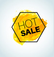 hot yellow sale watercolor element vector image