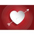 Heart design with arrow vector image vector image