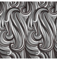 vector seamless abstract monochrome pattern vector image vector image