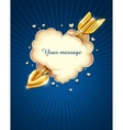 heart cloud striked by gold cupids arrow eps10 tra vector image vector image