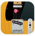 square guitar icon vector image