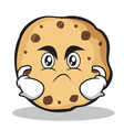 angry face sweet cookies character cartoon vector image