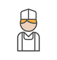baker icon with blond hair on white background vector image