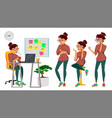 business woman lady character working female it vector image