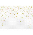 celebration background template with gold confetti vector image