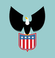 Eagle and coat of arms of USA American national vector image