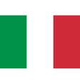 Italy Flag Original proportion and colors High vector image