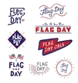 logos and labels Flag day vector image
