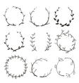 Rustic Laurel and Wreath Collection for Design vector image