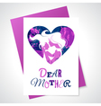 Mother silhouette with her baby and watercolor vector image vector image