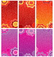 Decorative floral banners vector image vector image