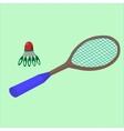 play badminton on the beach sports vector image