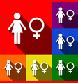 female sign set of icons vector image