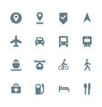 solid grey various map navigation icons set vector image
