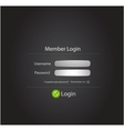login black modern n background vector image