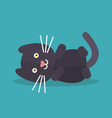 Cat lying vector image