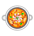 Tom Yum Goong or Thai Sour Soup with Prawns vector image
