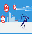 business goal concept vector image