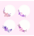 Floral labels stickers vector image